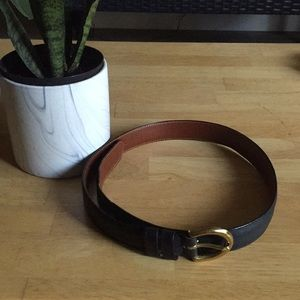 Coach Navy Leather Belt